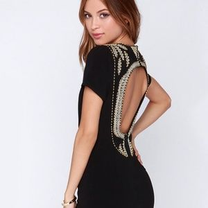 Beaded little black dress